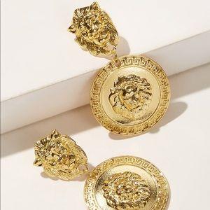 🖤Coming Soon🖤 Lion Medallion Earrings